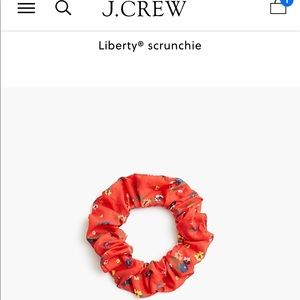 Liberty/Jcrew Scrunchie - Red